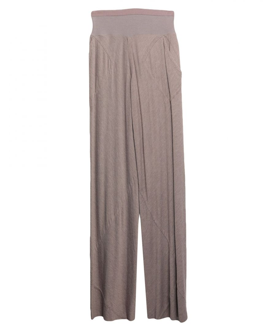 Image for Rick Owens Lilies Dove Grey Jersey Trousers