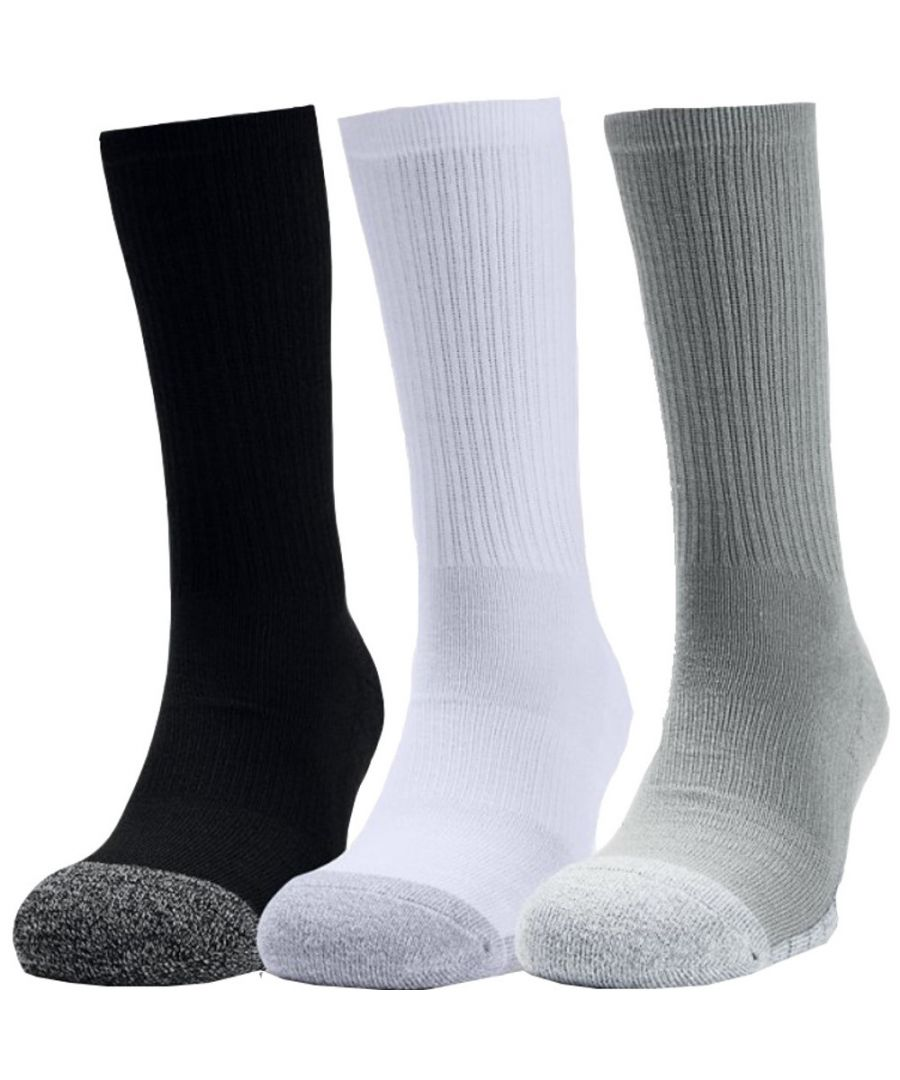 Image for Under Armour Mens Heat Gear Crew Wicking Long Training Socks