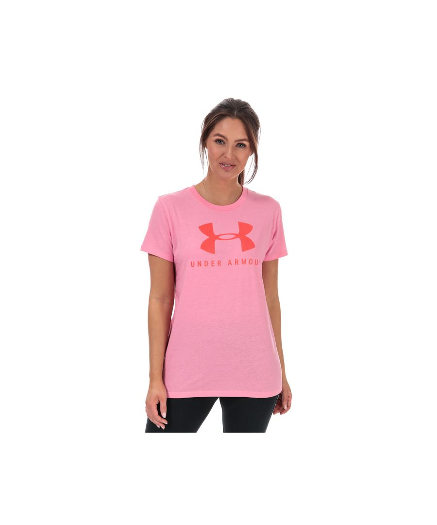 Image for Women's Under Armour Graphic Sportstyle Classic T-Shirt Pink 8-10in Pink