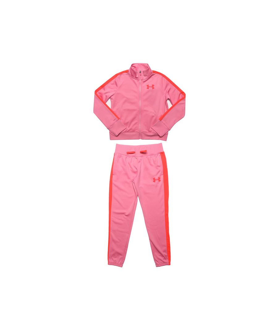 Image for Girl's Under Armour Junior UA Knit Tracksuit in Pink