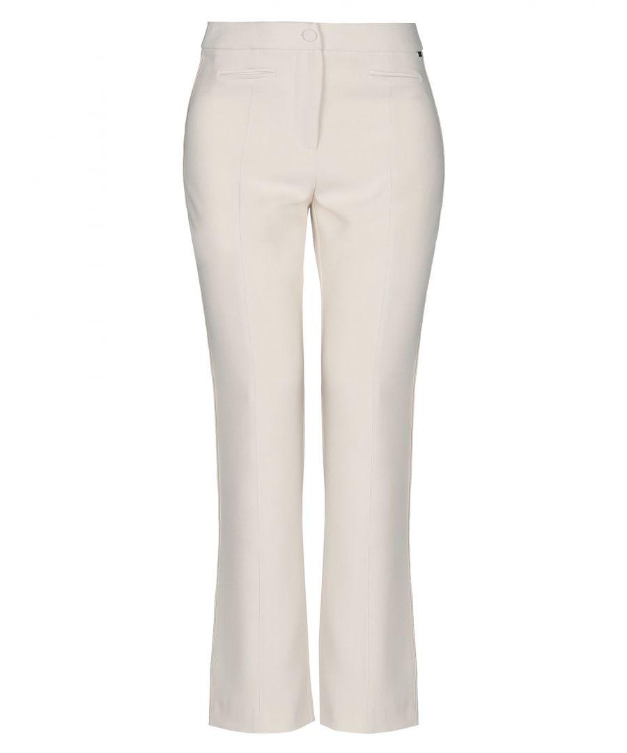 Image for Nenette Beige Straight Leg Trousers