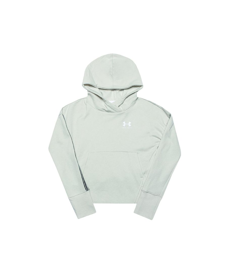 Image for Girl's Under Armour Junior SportStyle Fleece Hoody in White