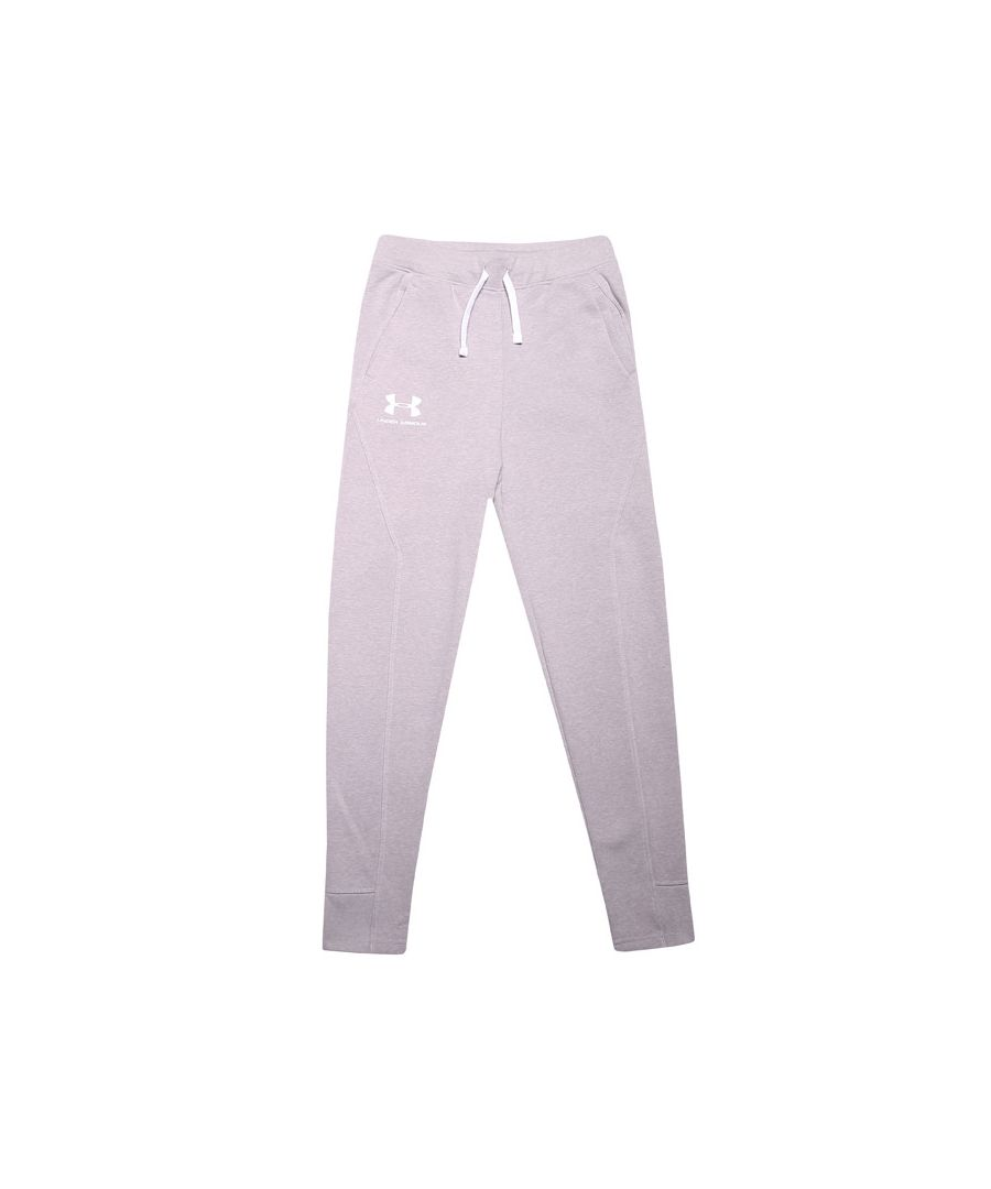 Image for Boys' Under Armour Junior Rival Solid Jog Pant in Grey