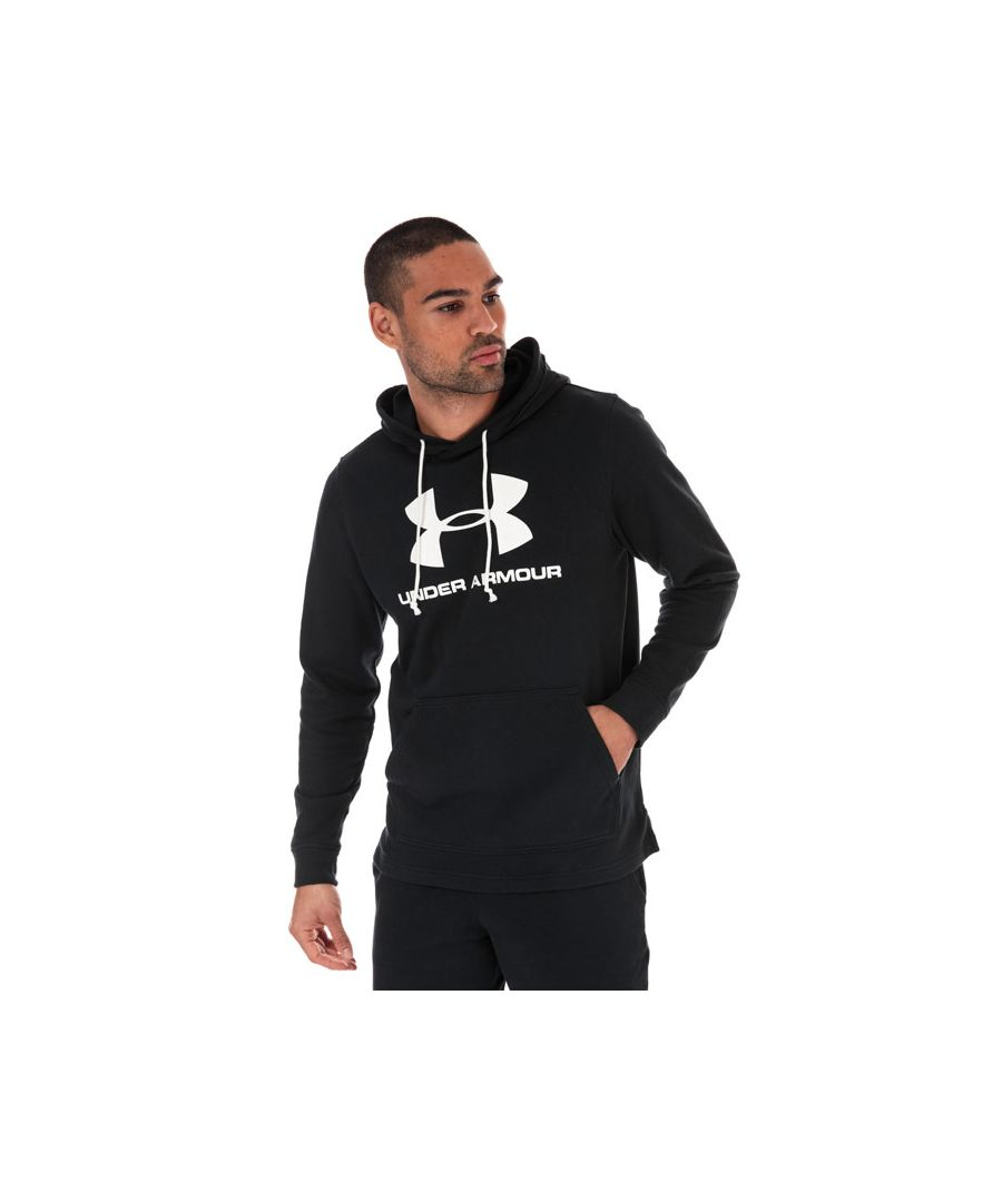 Image for Men's Under Armour Sportstyle Terry Logo Hoodie in Black
