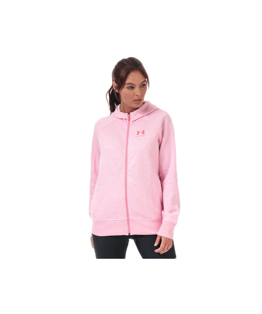 Image for Women's Under Armour Rival Fleece Sportstyle Graphic Zip Hoody in Pink