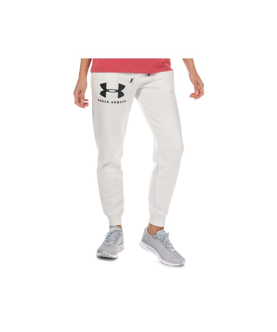 Image for Women's Under Armour Rival Fleece Sportstyle Jog Pants in White