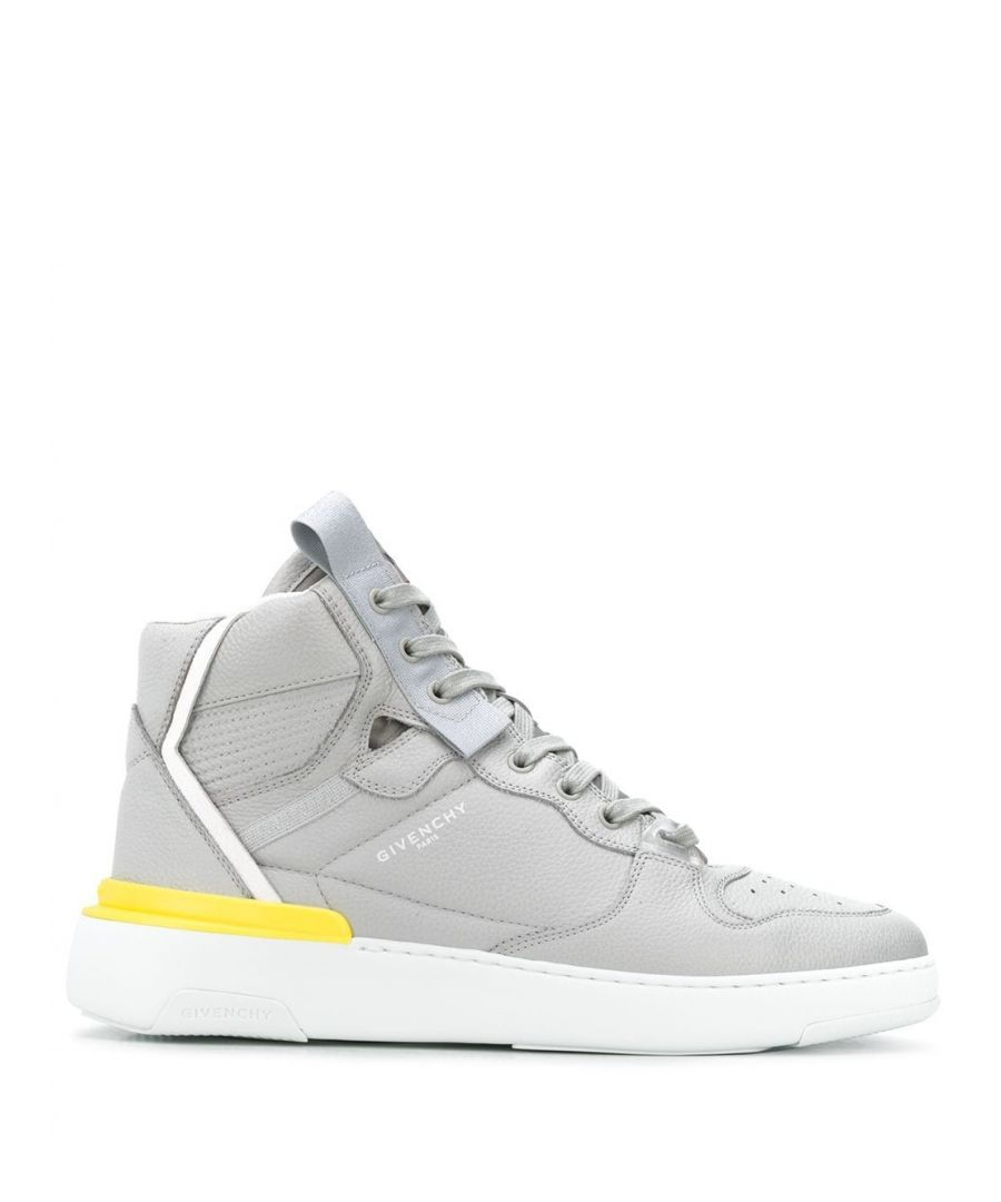 Image for GIVENCHY MEN'S BH002JH0MX020 GREY LEATHER HI TOP SNEAKERS