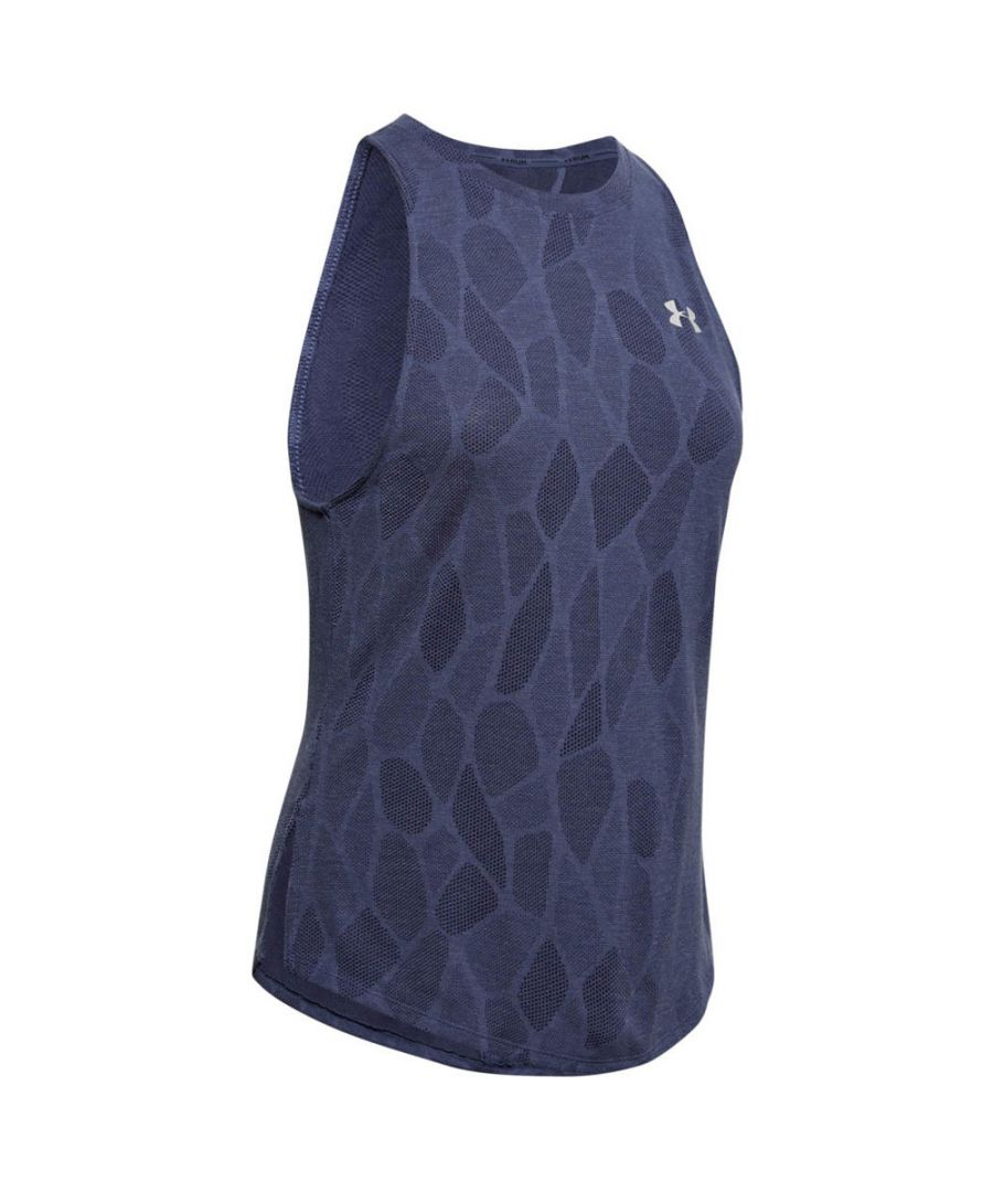 Image for Under Armour Streaker 2.0 Shift Womens Tank Top Navy Blue - UK 8-10