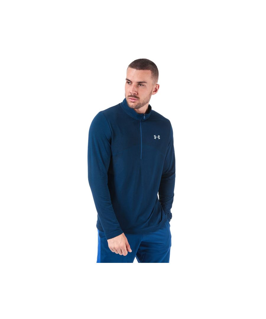 Image for Men's Under Armour UA Seamless Half Zip Top in Blue