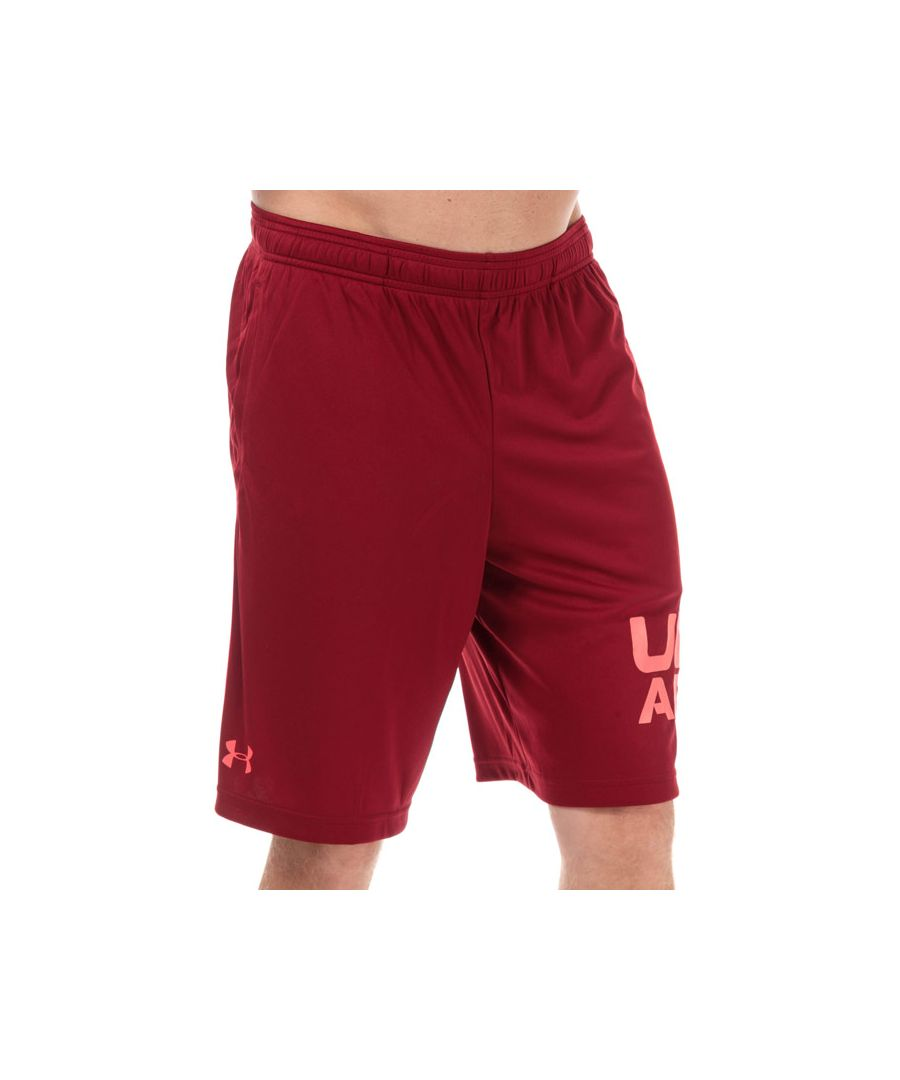 Image for Men's Under Armour Tech Wordmark Shorts in Red