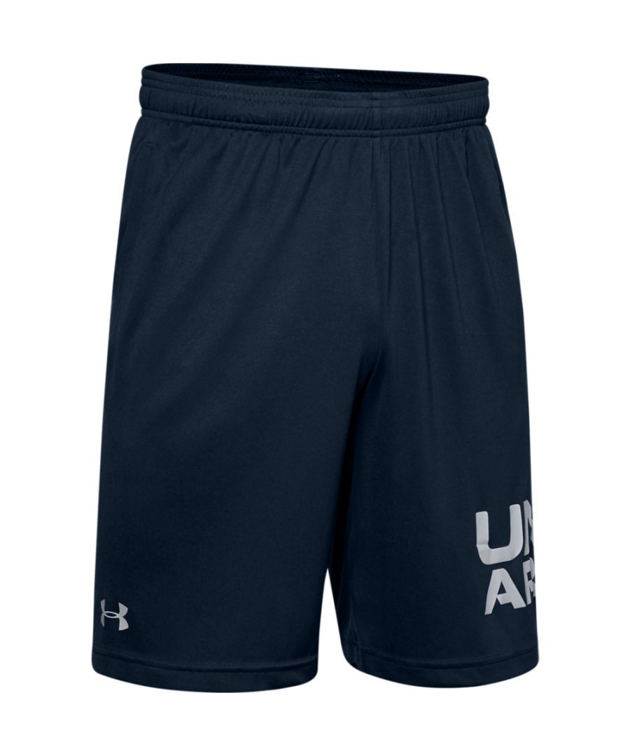 Image for Under Armour Mens Tech Wordmark Quick Drying Athletic Shorts
