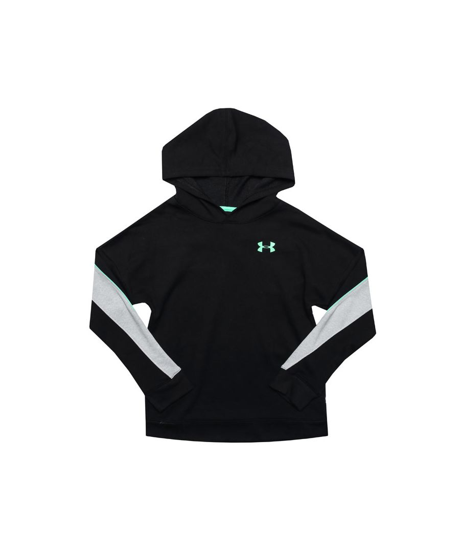 Image for Boy's Under Armour Junior UA Rival Terry Hoody in Black