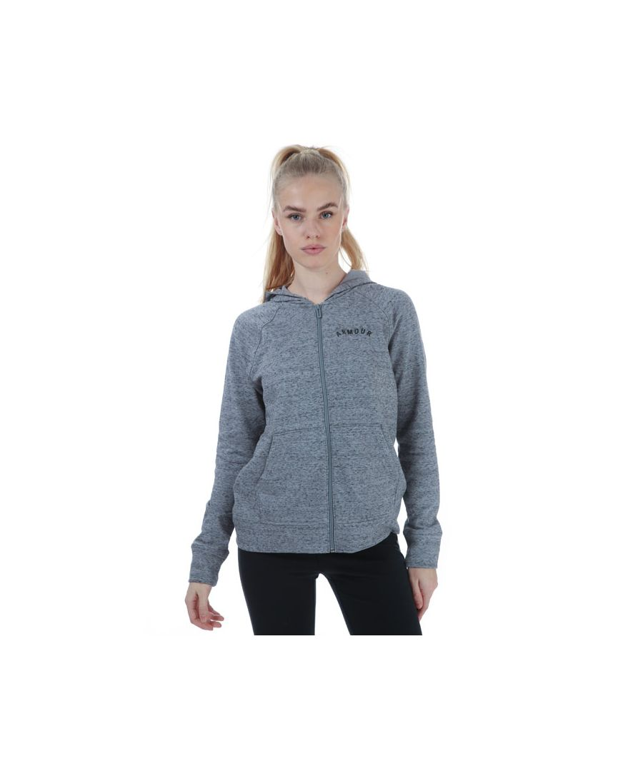 Image for Women's Under Armour Rival Terry Zip Hoody Grey 12-14in Grey