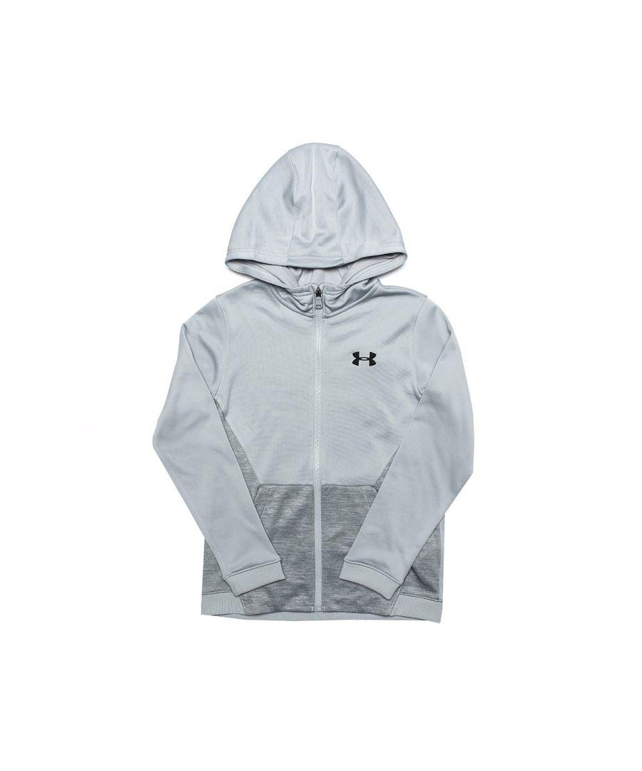 Image for Boy's Under Armour Junior AF Full Zip Hoody in Grey