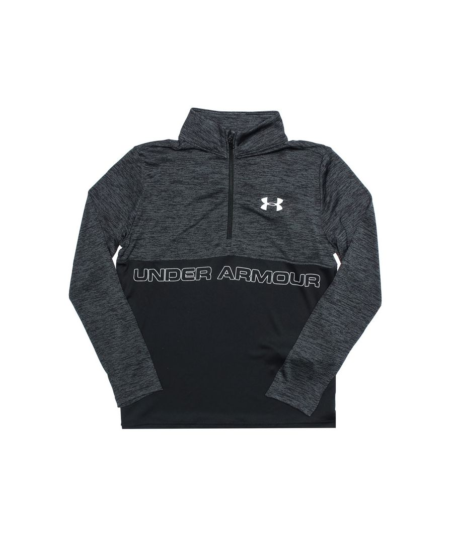 Image for Boy's Under Armour Junior JD Tech 1/2 Zip Sweat in Black