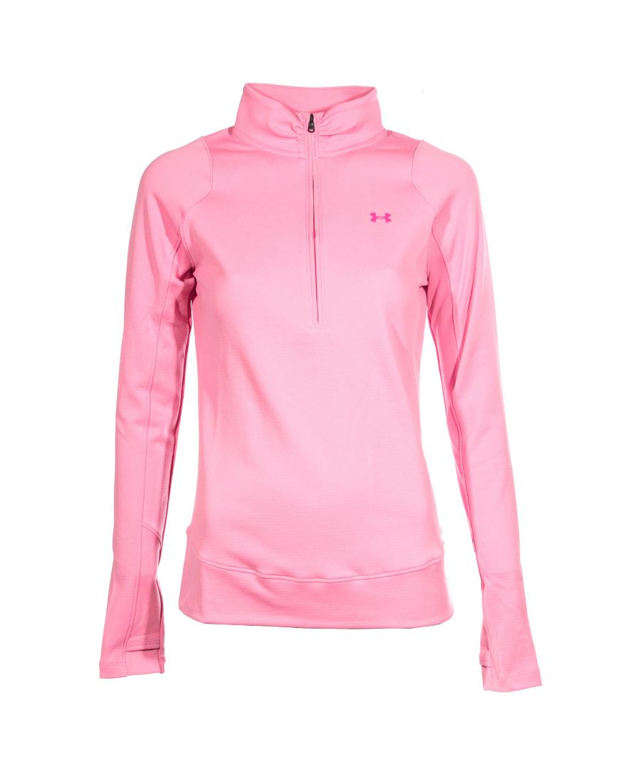 Image for Under Armour ColdGear Armour Womens 1/2 Zip Top Pink