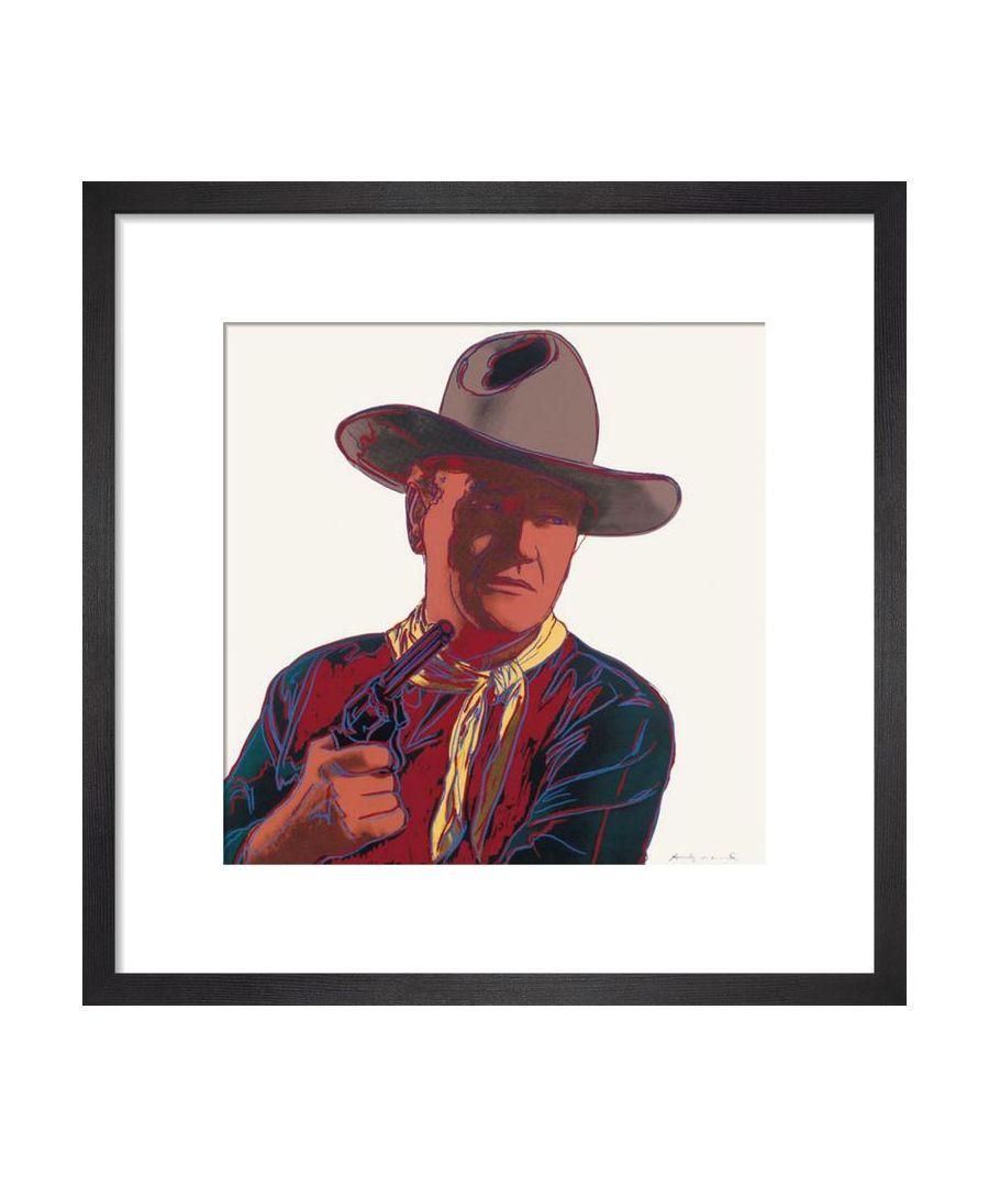 Image for John Wayne, 1986 Art print by Andy Warhol