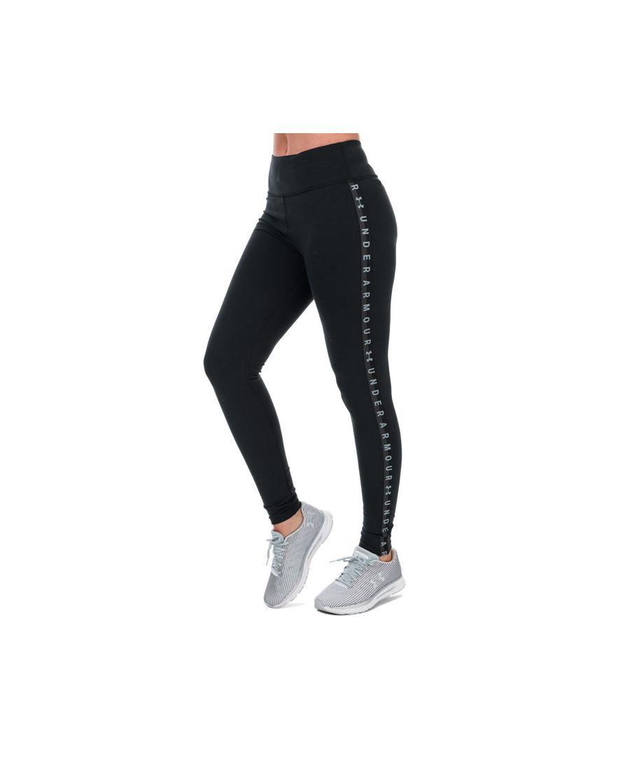 Image for Women's Under Armour Favourite Branded Leggings Black 12-14in Black