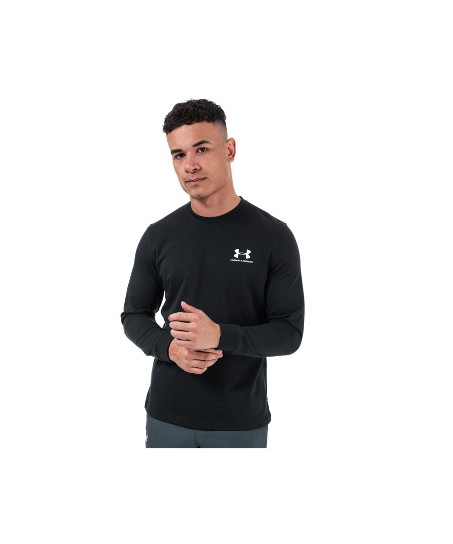 Image for Men's Under Armour Sportstyle Terry Logo Sweatshirt in Black