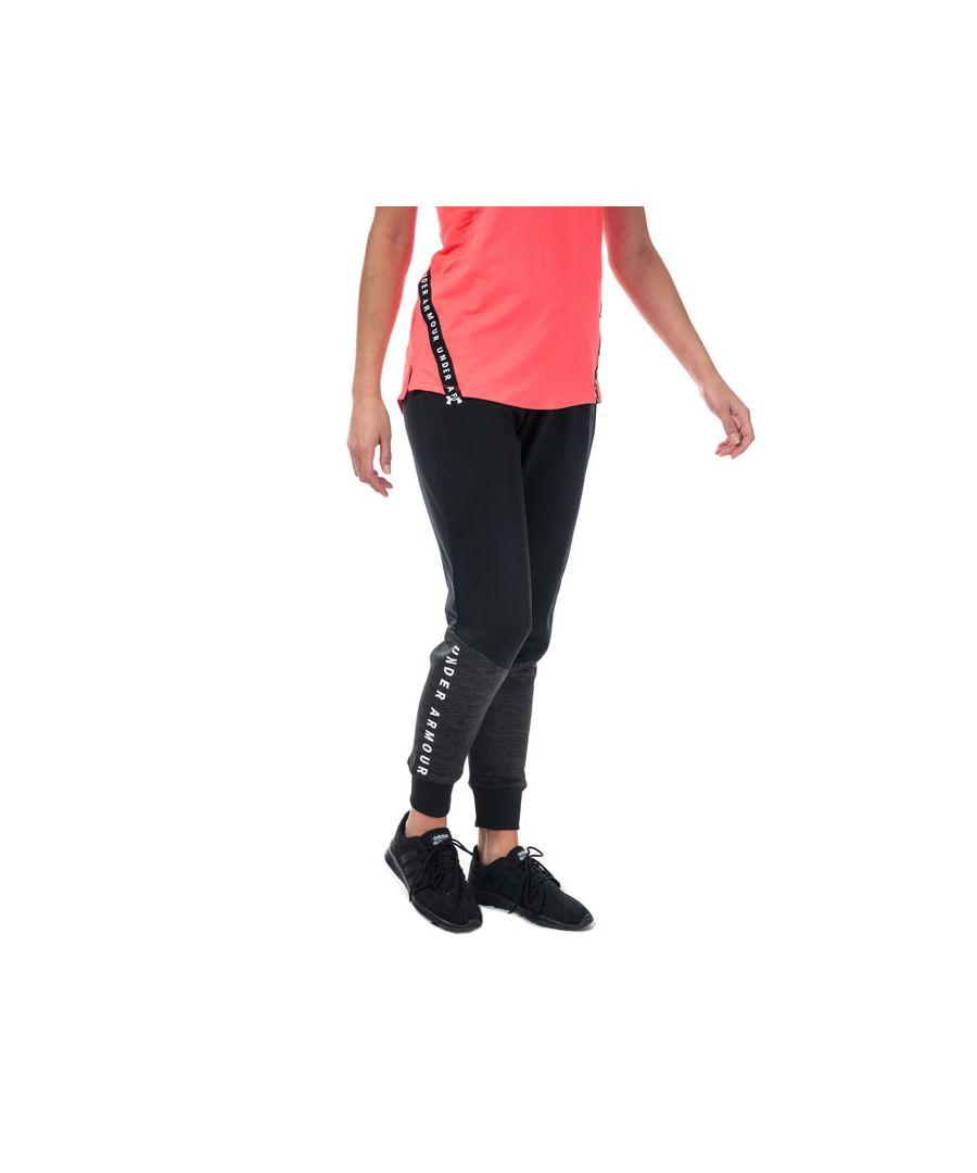 Image for Women's Under Armour Graphic Fleece Jog Pants in Black