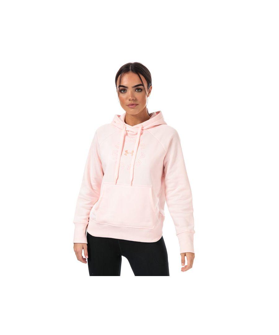 Image for Women's Under Armour Rival Fleece Metallic Hoody in Pink