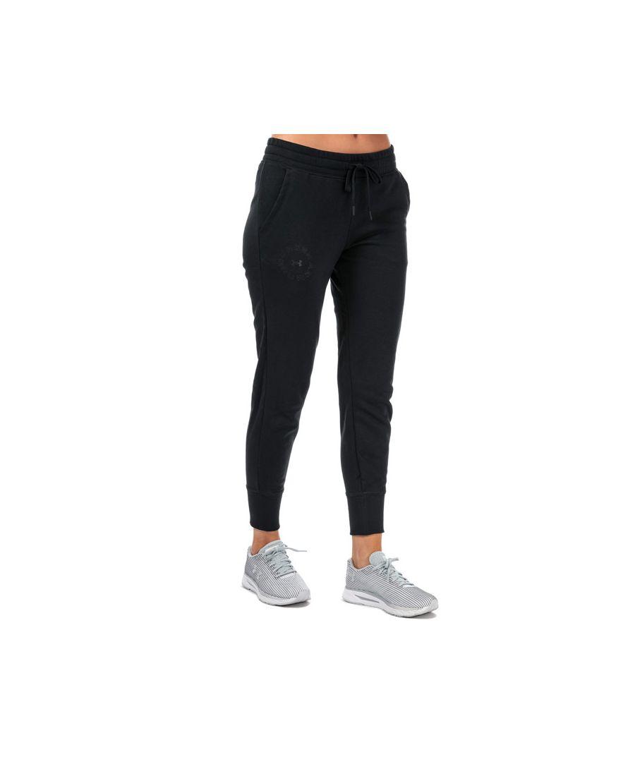 Image for Women's Under Armour Rival Fleece Metallic Jog Pants in Black