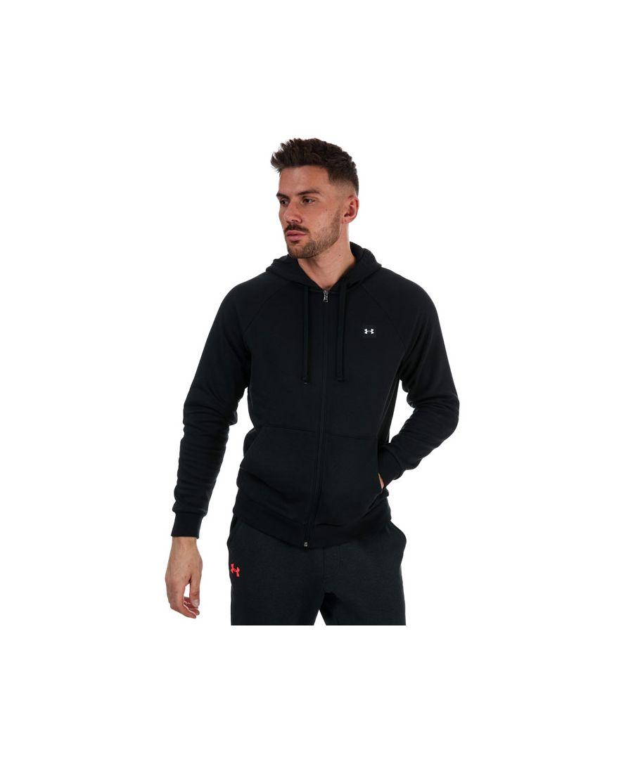 Image for Men's Under Armour Rival Fleece Zip Hoodie in Black