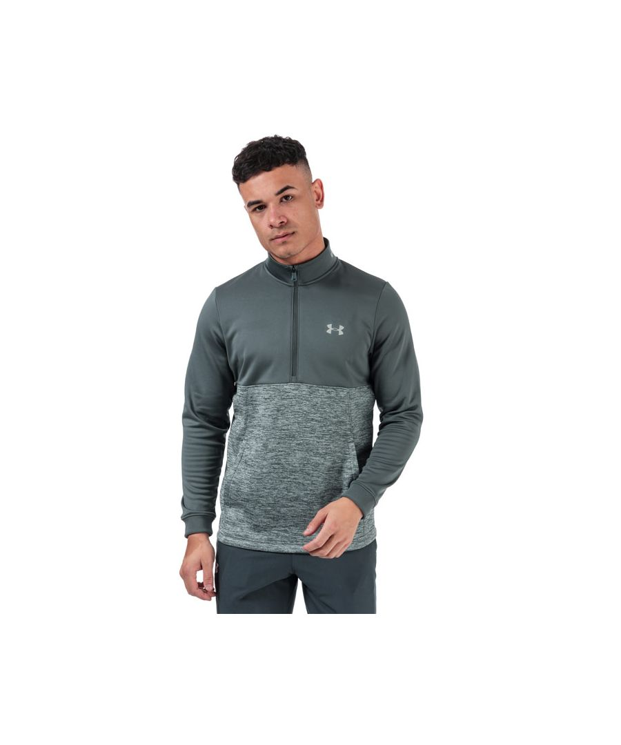 Image for Men's Under Armour Armour Fleece 1/2 Zip Sweatshirt in Grey