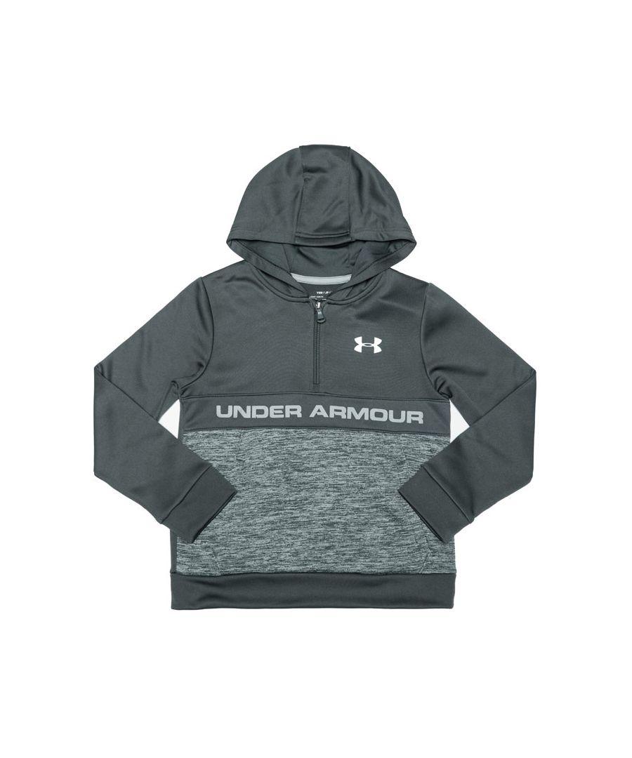 Image for Boy's Under Armour Junior Armour Fleece RFT 1/2 Zip Top in Grey