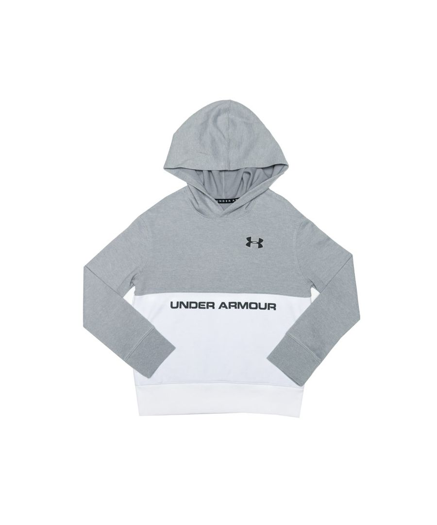 Image for Boy's Under Armour Junior Double Knit Hoody in White