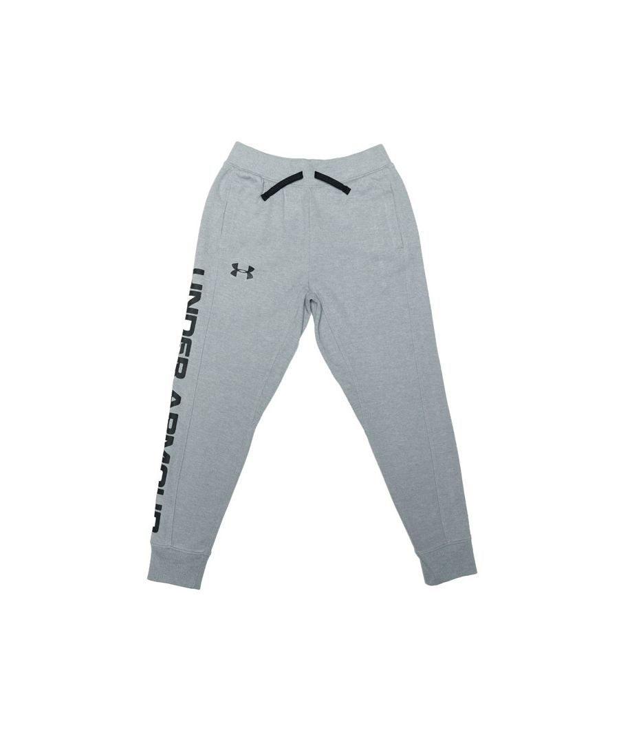 Image for Boy's Under Armour Junior JD 2x Knit Jog Pants in Grey