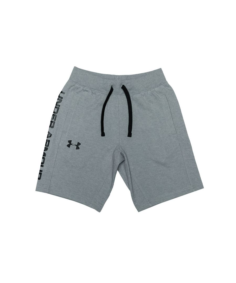 Image for Boy's Under Armour Junior Double Knit Shorts in Grey