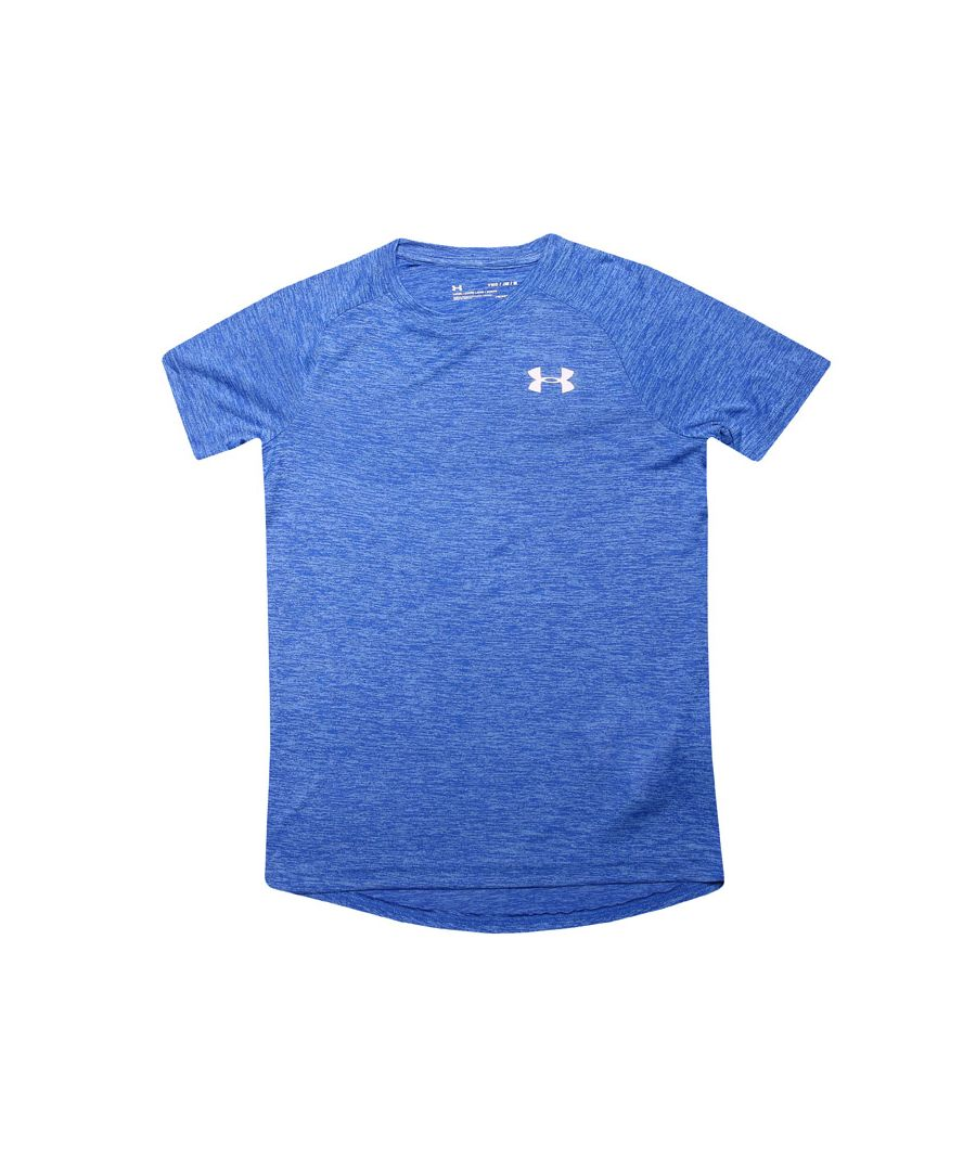 Image for Boy's Under Armour Junior Tech Reflective T-Shirt in Blue
