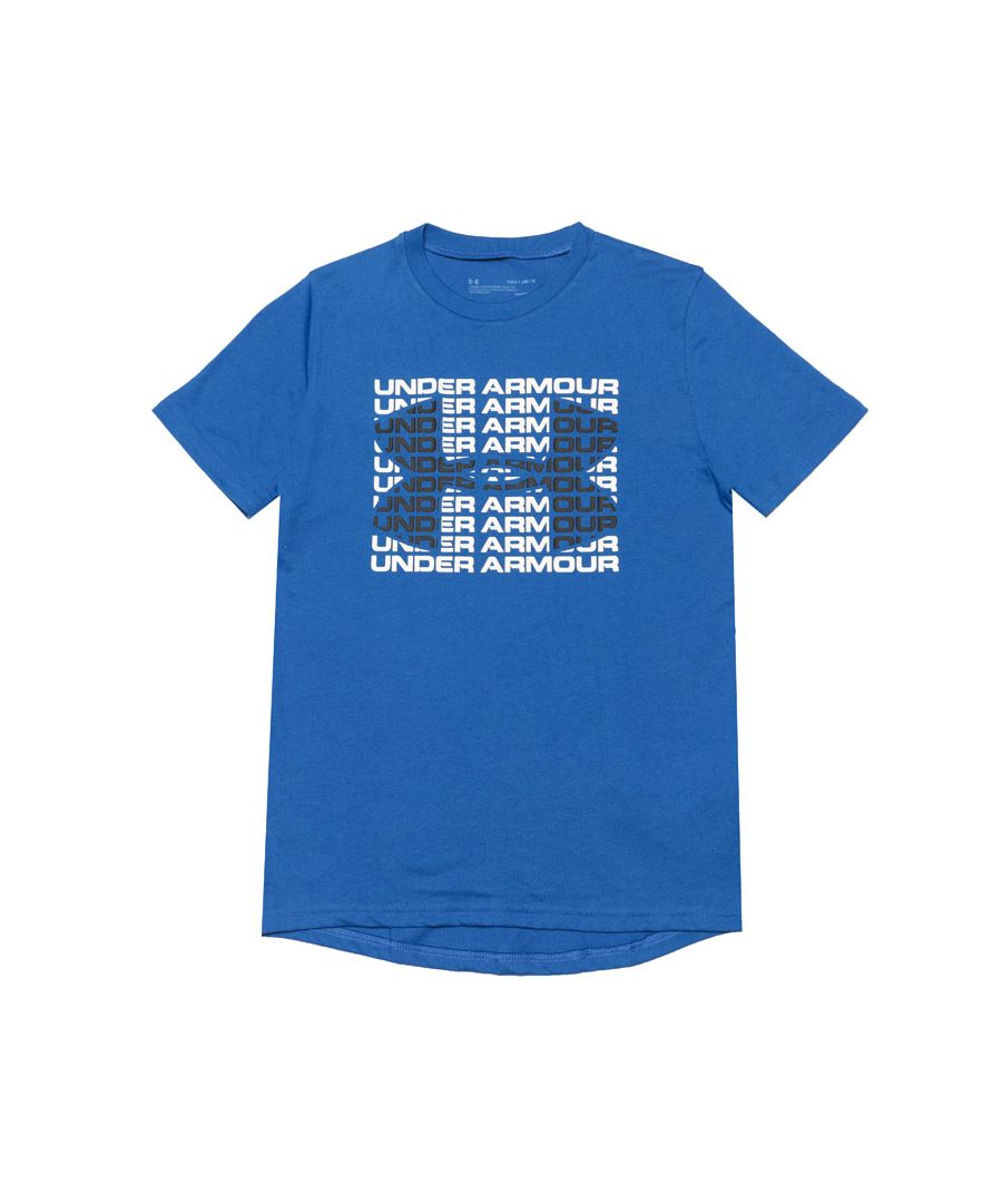 Image for Boy's Under Armour Junior Wordmark T-Shirt in Blue