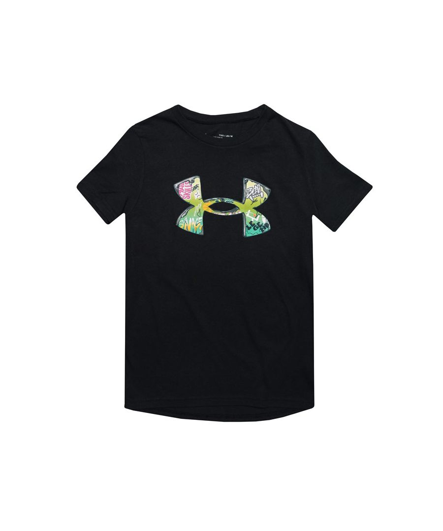 Image for Boy's Under Armour Junior Tech Illustration T-Shirt in Black