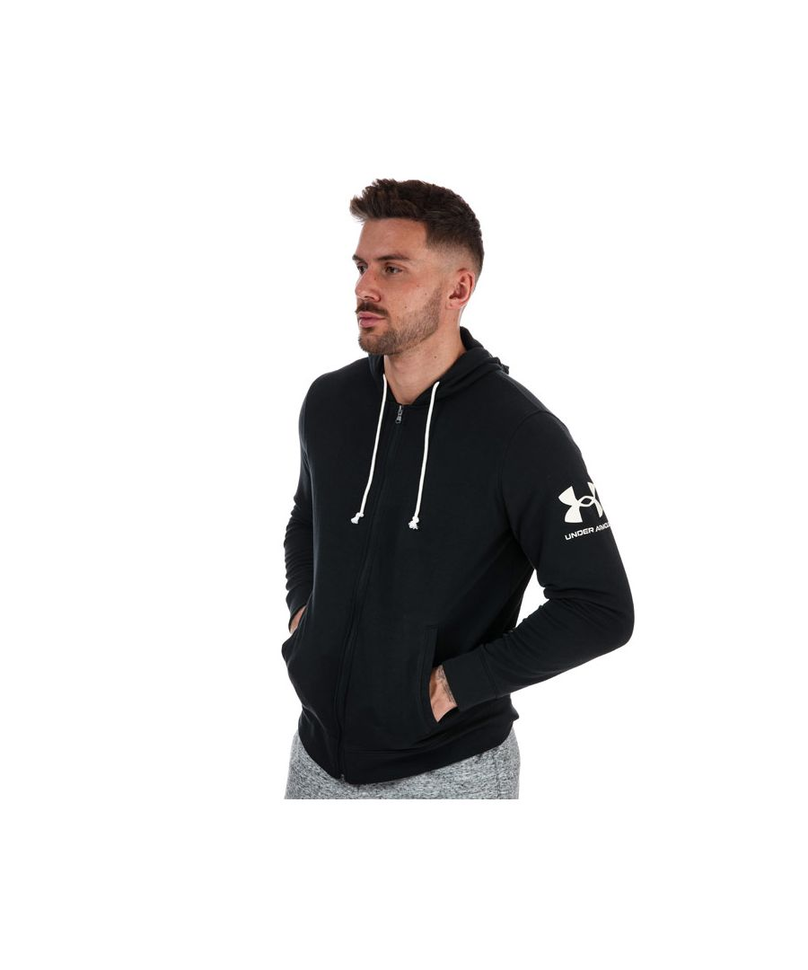 Image for Men's Under Armour Rival Terry Zip Hoodie in Black