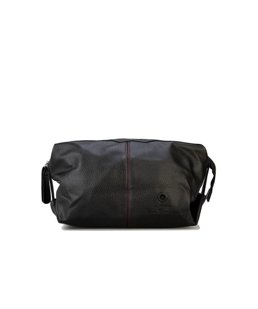 Image for Accessories Ben Sherman Travis PU Wash Bag in Black