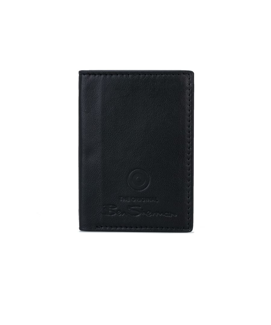 Image for Accessories Ben Sherman Dack Leather RFID Card Holder Wallet in Black