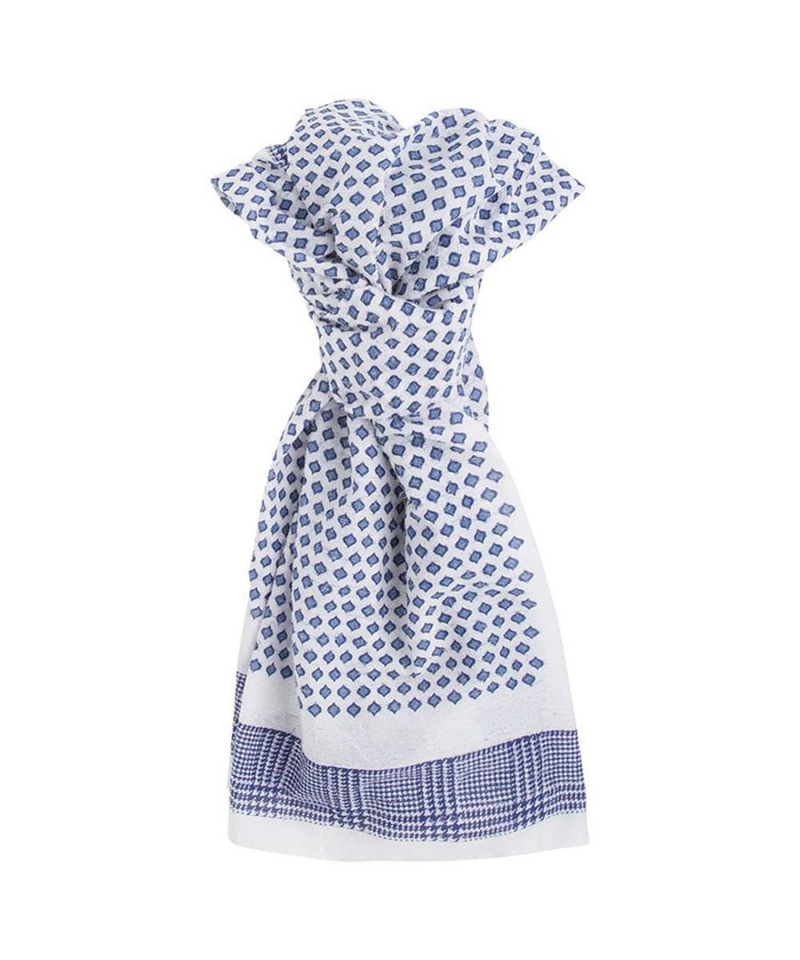 Image for Men's Hackett, Needle Pull Scarf in Multicolour Blue & White