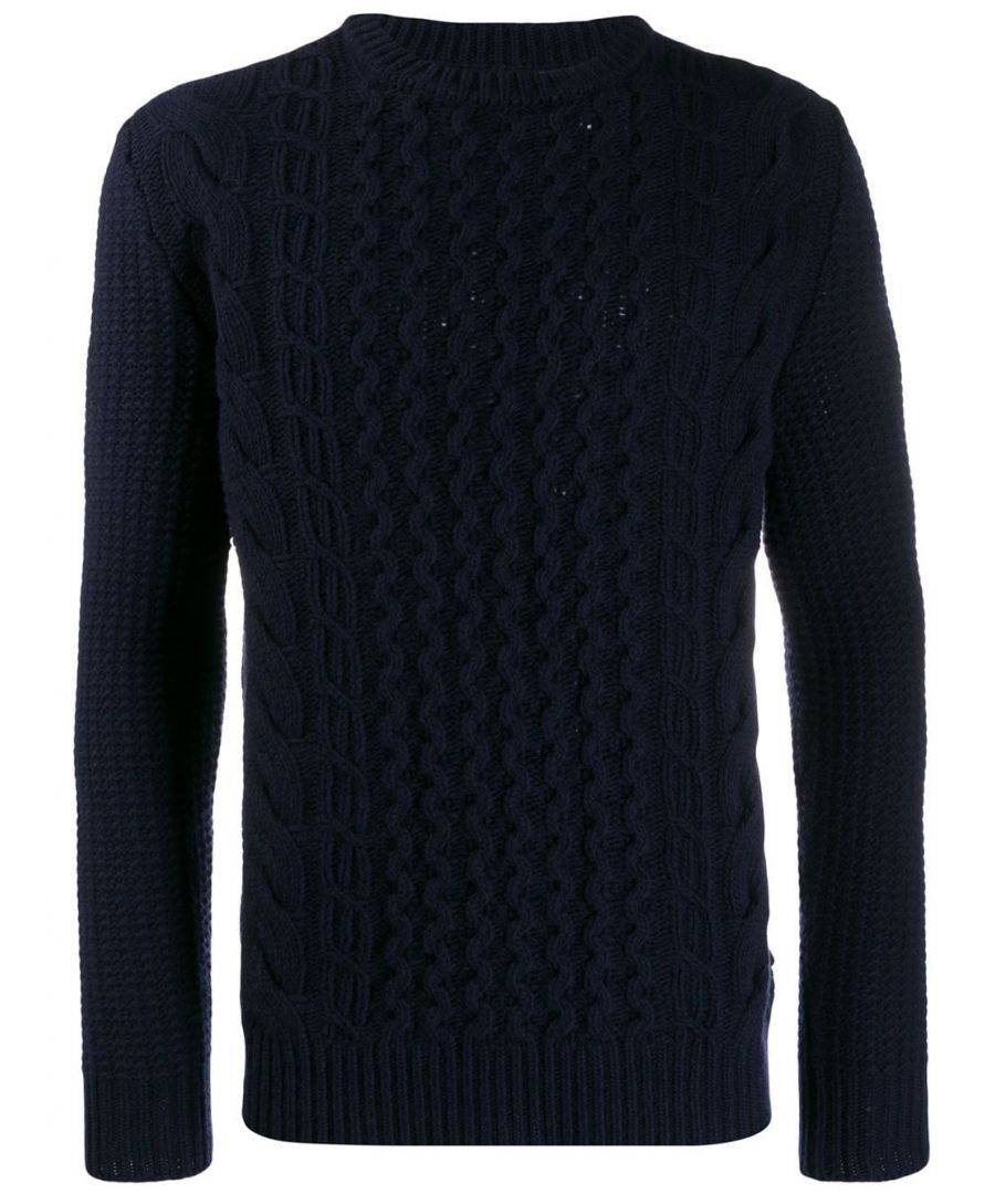 Image for WOOLRICH MEN'S WOMAG1861UF03483989 BLUE WOOL SWEATER