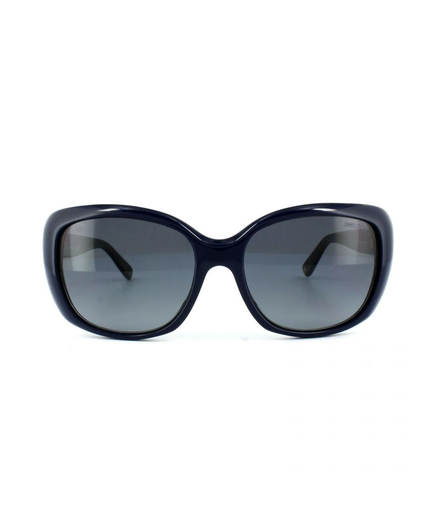 Image for Jimmy Choo Sunglasses Kalia EN9 HD Blue Glitter Gold Grey Gradient