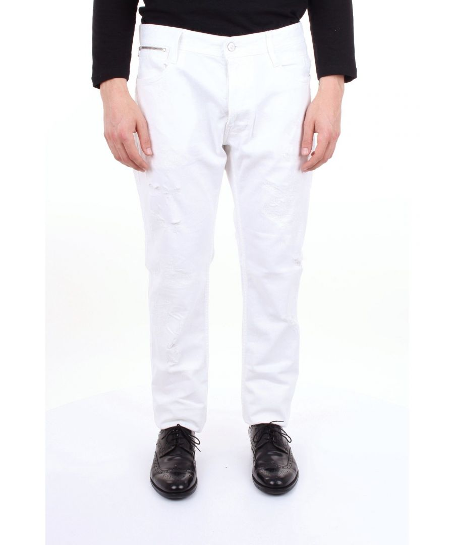 Image for REPLAY MEN'S 8005212WHITE WHITE COTTON JEANS