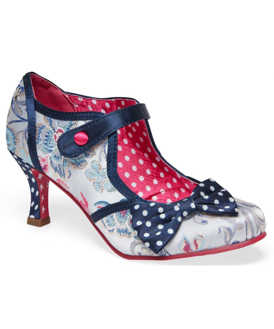Image for Joe Browns Couture Clara Womens Occasion Shoes Silver/Navy/Multi