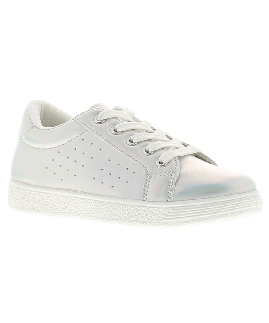 Image for Miss Riot sphere girls kids trainers silver