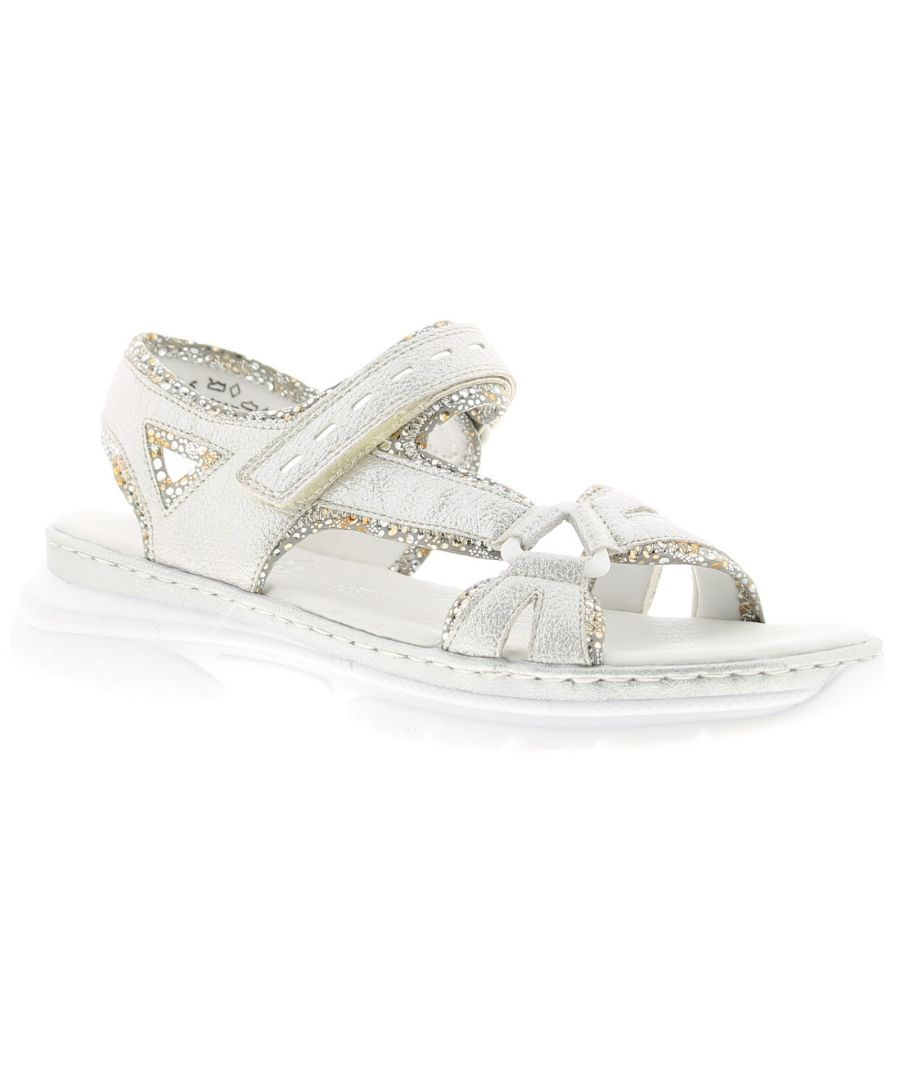 Image for Ladies Synthetic Upper Double Touch Fastening Comfort Sandal Synthetic Lining Polyurethane Outsole