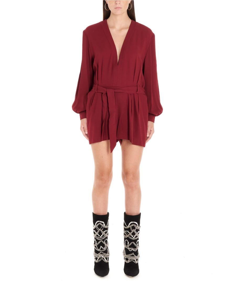 Image for IRO WOMEN'S 19WWM29SULLANAPIN26 BURGUNDY ACRYLIC JUMPSUIT