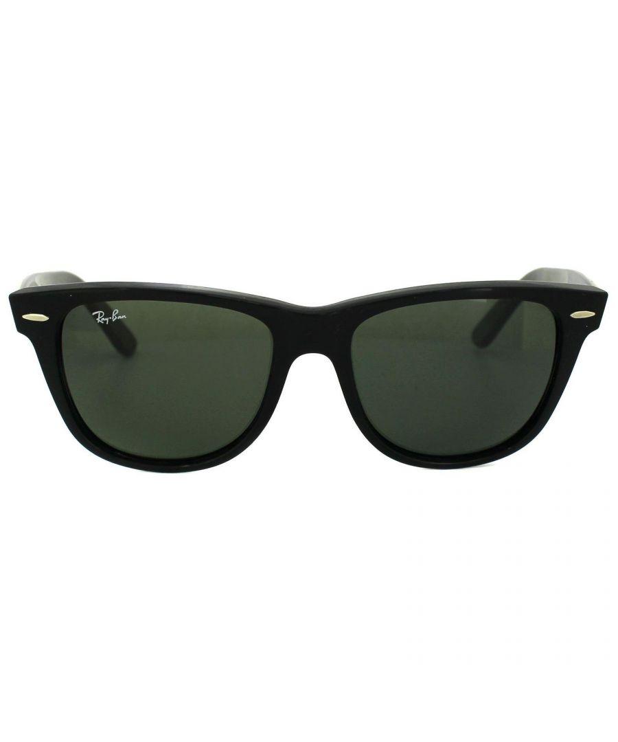 Image for Ray-Ban Sunglasses Wayfarer 2140 901 Black Green G-15 Large 54mm