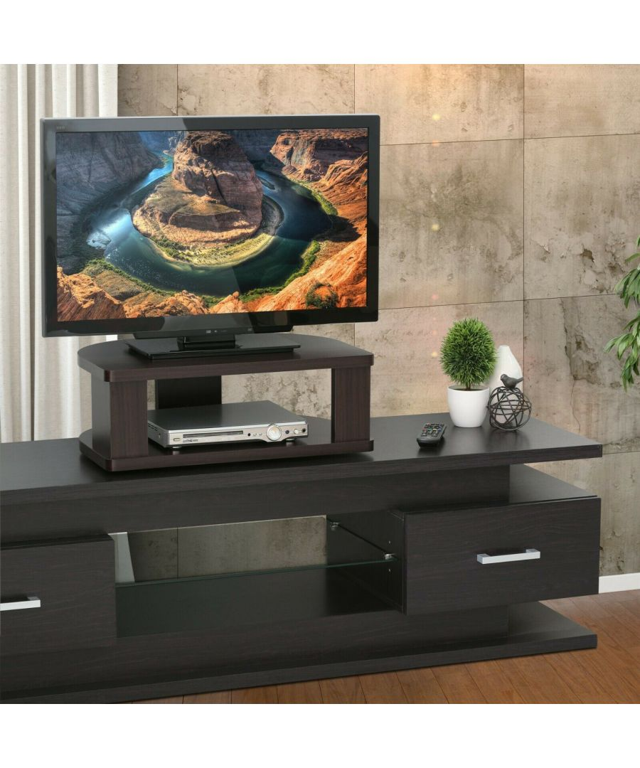 Image for Furinno Indo FSP018EX Swivel Shelf for TV, Espresso
