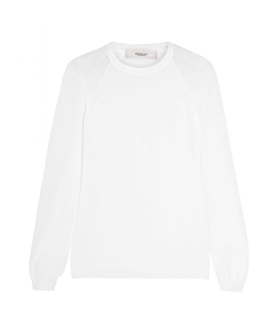 Image for Pringle Of Scotland White Cotton Knit