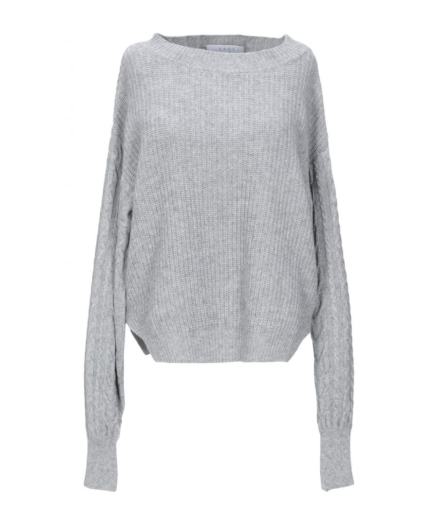 Image for Kaos Grey Lightweight Knit Jumper